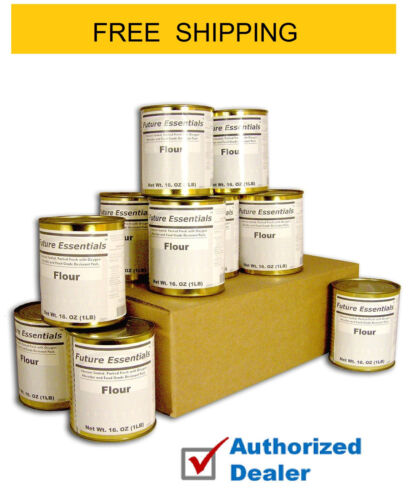 Future Essentials Canned All Purpose White Flour, Full Case, FREE SHIPPING