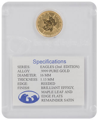 1998 - 1/10oz Gold Maple Leaf Family of Eagles, 2nd Edition