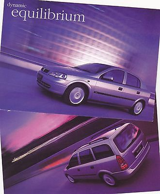 x2 Official Vauxhall Astra Mk.4 Promotional Postcards x2