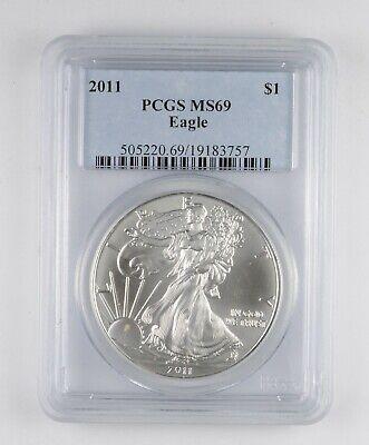 MS69 2011 American Silver Eagle - Graded PCGS *052