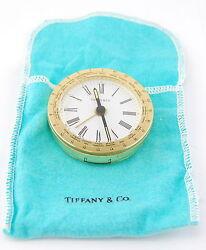 TIFFANY & CO WORLD TIME ZONE TRAVEL ALARM CLOCK NO RESERVE