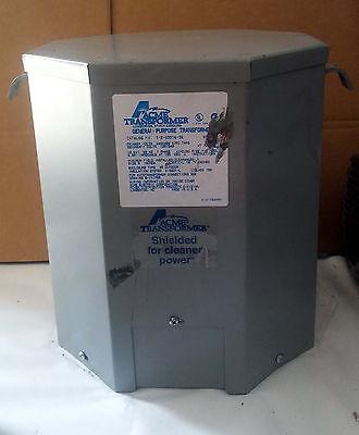 1 New Acme T-2-53516-3s General Purpose Transformer 10kva 1ph Make Offer