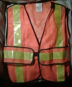 Mccordick saftety traffic 5 point tear away  vest orange