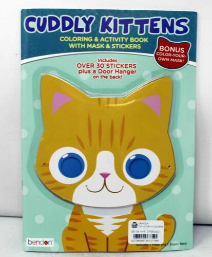 Bendon Cuddly Kittens Coloring and Activity Book w Door Hanger and Stickers B286