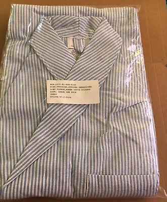 Dressing Robe Seersucker Striped 3-pocket Large New orig. pkg military surplus