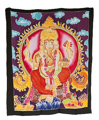 Batik Ganesh Dieu Hindu Head Elephant Hanging Master Piece 108x92cm 7142 U