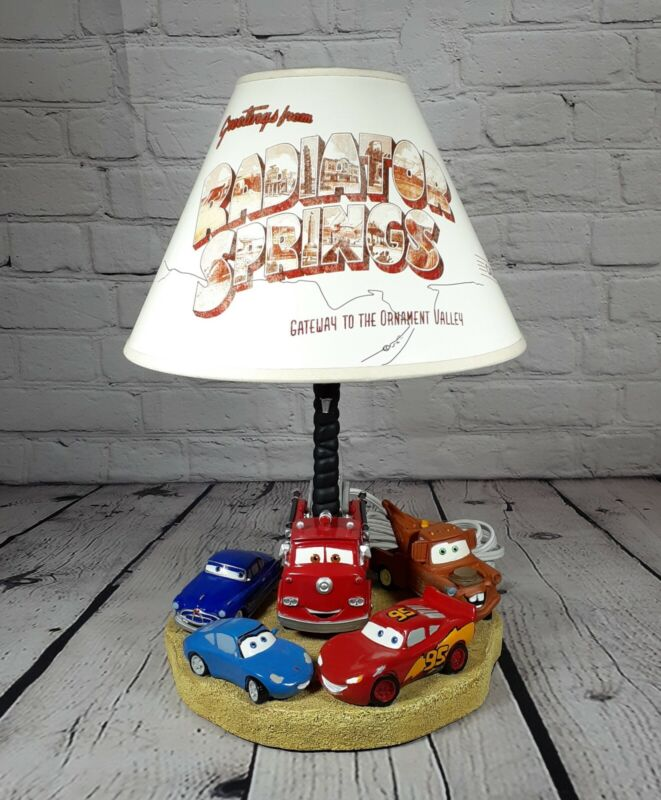 Disney Pixar Cars Movie 3D Lightning McQueen Mater Lamp Works