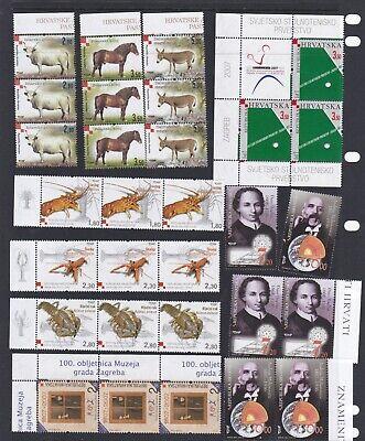 Croatia Hrvatska Stamps 2007 MNH. 5 sets. Strips of 3. Inc Crabs, Table Tennis