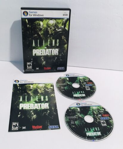Sega DVD PC Games for Windows ALIENS vs PREDATOR Classic Win 7 Vista XP