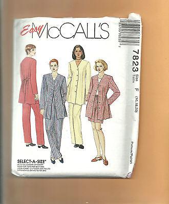 McCALL'S pattern 7823 pants jacket shorts suit business casual SZ plus 16 18 20