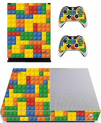 Lego Brick Sticker/Skin Xbox One s Console/ Remote controller,xbs1