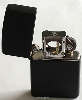 Zippo Windproof Black Matte Lighter With Pipe Insert, 218 Pipe, New In Box