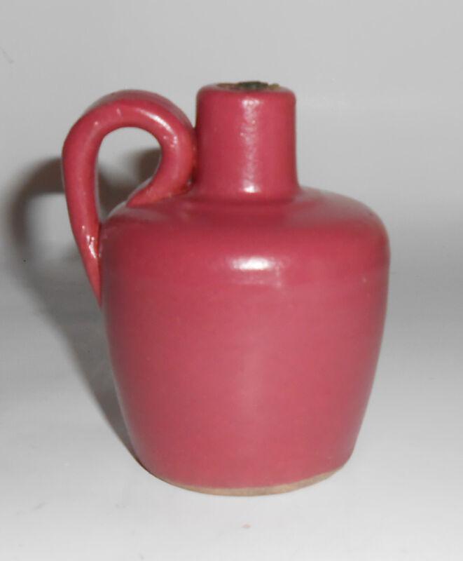Uhl Pottery Dusty Rose Miniature Liquor Jug