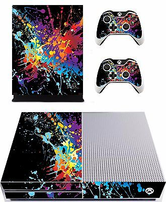 Paint Splats Sticker/Skin Xbox One s Console/ Remote controller,xbs5