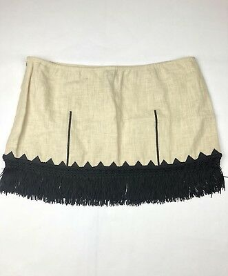 NWT Free People Mini Skirt Womens Size 8 Fringed (E2)