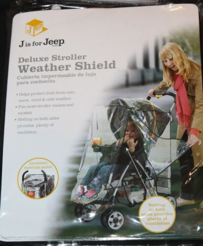 Jeep Deluxe Stroller Weather Shield Clear new