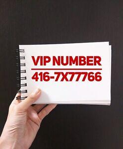 Fancy phone numbers