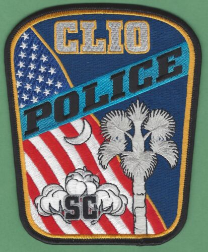 CLIO SOUTH CAROLINA SHOULDER POLICE PATCH