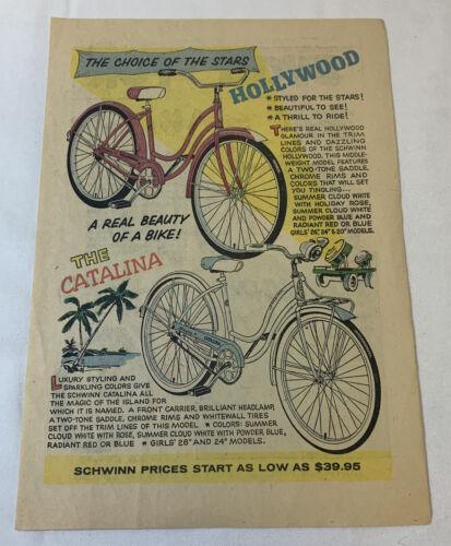 1959 Schwinn bicycle cartoon ad page ~ HOLLYWOOD, CATALINA