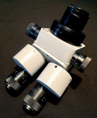 Meiji Emz-10 Zoom Stereo Microscope With Fiber Optic Ring Fk Slide Block Boom