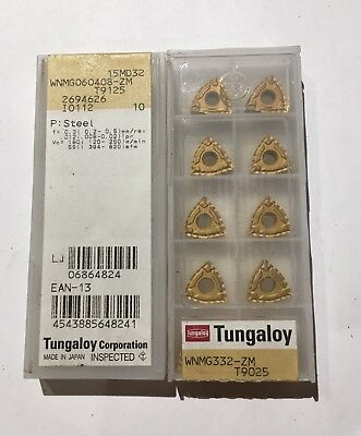 Tungaloy Carbide Inserts - Wnmg060408-zm T9125 - Qty. 10 - New