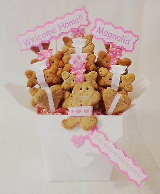 Dog treat gift basket, Valentine's Day dog gift basket, dog treats, dog biscuits
