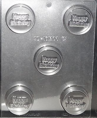 Happy Birthday Party Cookie Candy  Mold Chocolate Oreo Clear Plastic  C K