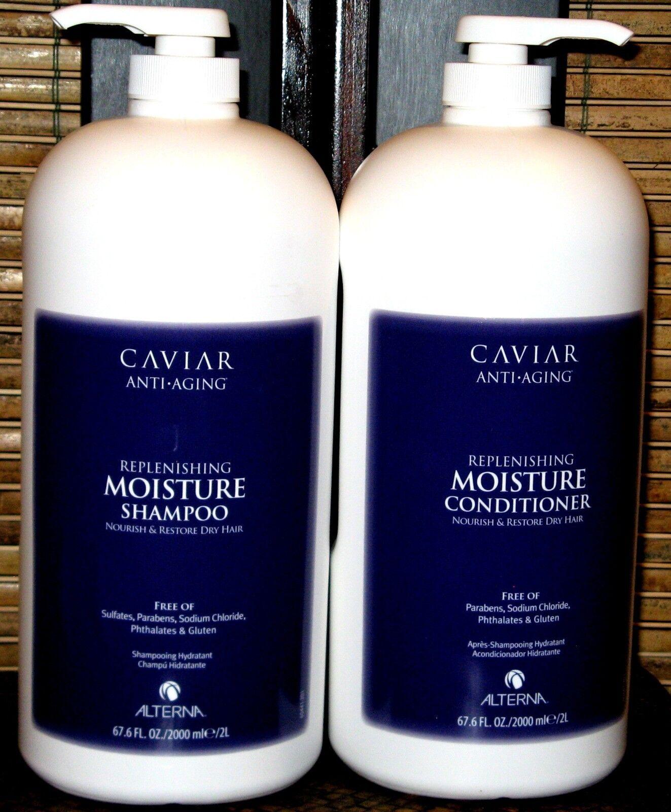 Alterna Caviar Moisture Shampoo & Conditioner 67.6 2 Liter Set Duo Half Gallon