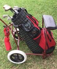 Golf clubs X 7 & buggy   Ram XS-3000 Clubs as pictured   Buggy us Kewdale Belmont Area Preview