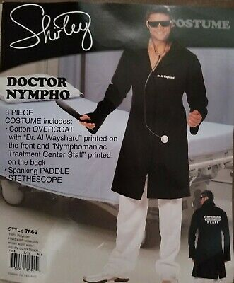 X-men Halloween Costumes For Adults (Mens Adult Male Naughty Funny X Rated Doctor Nympho Costume for Stag)