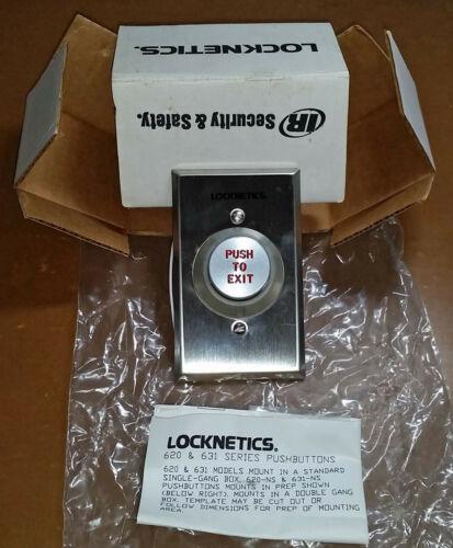 Locknetics Security Engineering Door Exit Button 12/24 VDC! 621xAL EXxDA NICE!!!