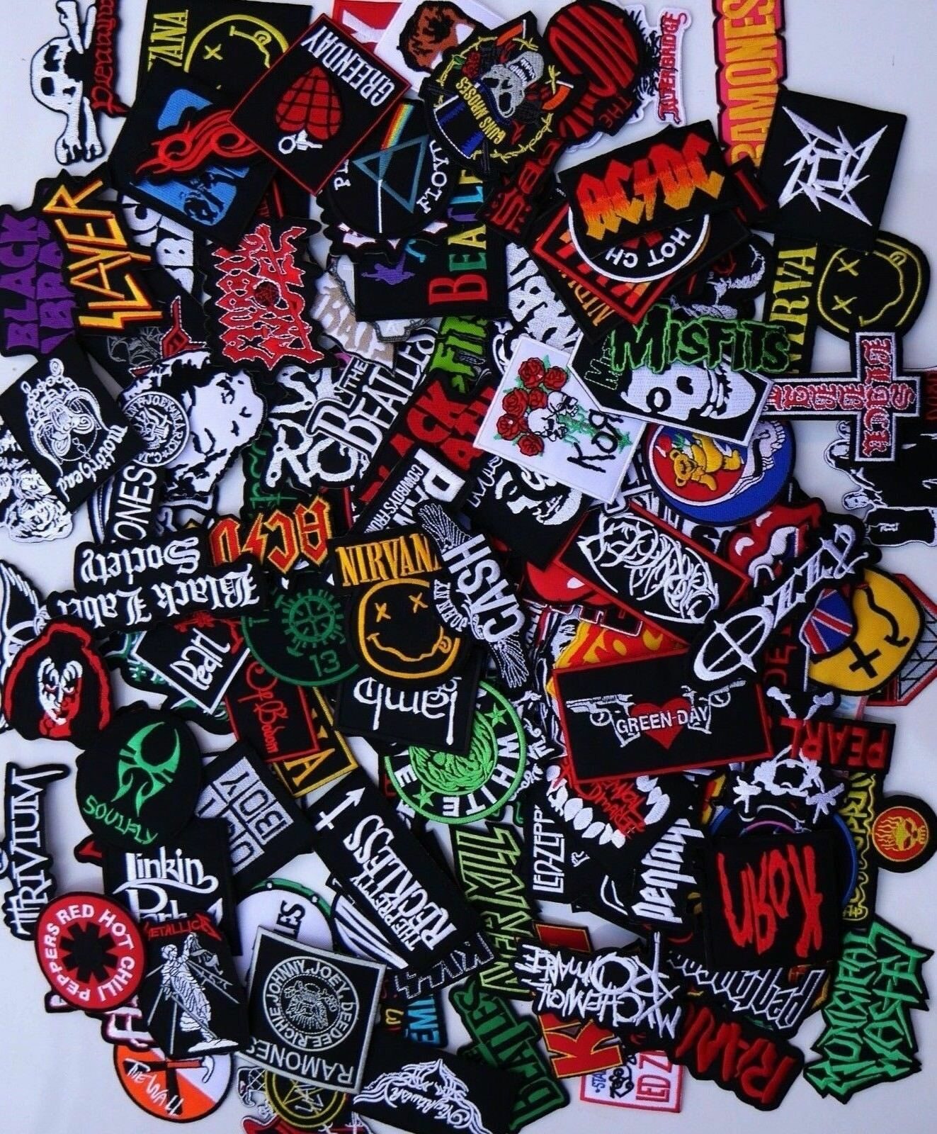 random lot of 20 rock band patches
