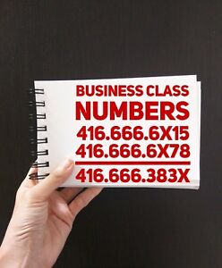 416 Toronto Vanity CellPhone Numbers For Business