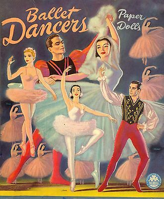 VINTAGE UNCUT 1947 BALLET DANCERS PAPER DOLLS ~HD LASER REPRODUCTION~LO PR~HI