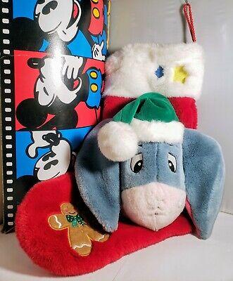 Eeyore Christmas Stocking Plush 3D Singing Talking Disney Store with Box