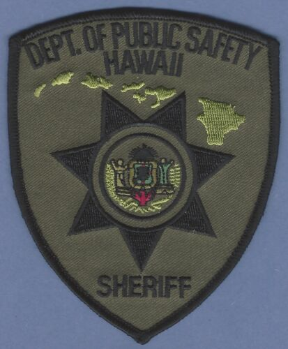HAWAII STATE DEPARTMENT OF PUBLIC SAETY SHERIFF POLICE PATCH SUBDUED