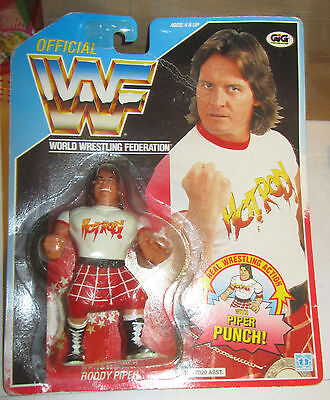 World Wrestling Federation WWF action figures Roddy Piper Punch MOC SPESE GRATIS