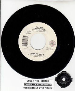RED-HOT-CHILI-PEPPERS-Under-The-Bridge-7-45-record-juke-box-title-strip-RARE