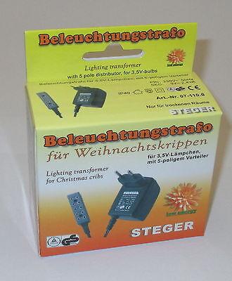 Steger Beleuchtungs-Trafo für Weihnachtskrippen mit Verteiler