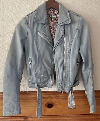 JOFAMA by Kenza Motorcycle Leather Jacket Sz 32 xs xxs 0 2 gray Moto