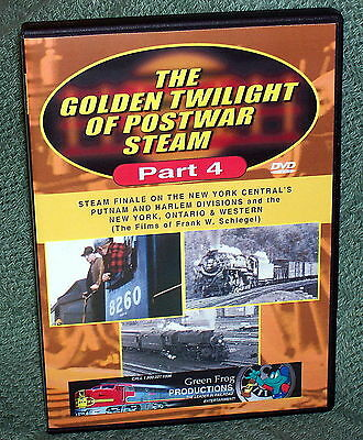 "20313 TRAIN VIDEO DVD ""POSTWAR STEAM VOLUME 4""  NYC, PUTNAM & HARLEM/ NYO&W"