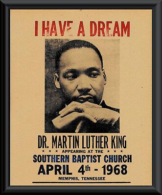 Martin Luther King Jr. Speech Flyer Reprint On Original Period 1960s Paper *137