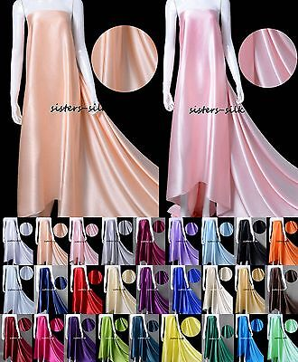 Bright and Shining color of silk charmeuse fabric