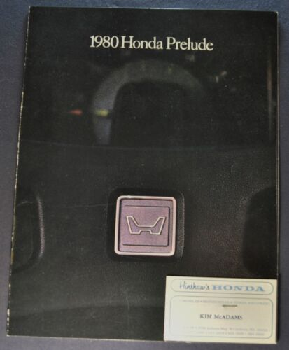 1980 Honda Prelude Catalog Sales Brochure Coupe Excellent Original 80