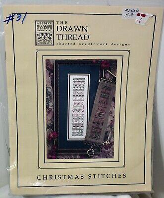 The Drawn Thread CHRISTMAS STITCHES Cross Stitch Kit Kreinik Silk Beads Sampler