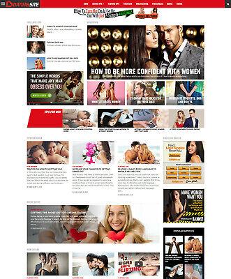 Dating Guide Find Singles Affiliate Website For Sale Responsive Mobile Design