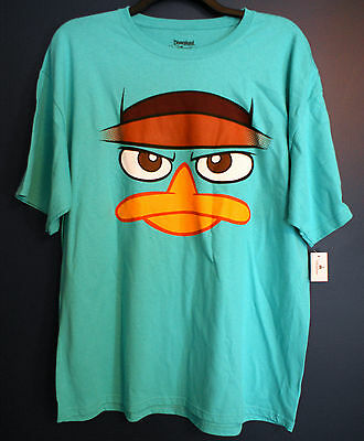 New Disney Parks AGENT P Perry Platypus PHINEAS FERB Costume T-Shirt Mens XXL](Agent P Costume)