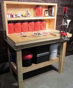 Reloading Bench Plans - Build a Rifle, Pistol and Shotgun Reloading Bench DIY