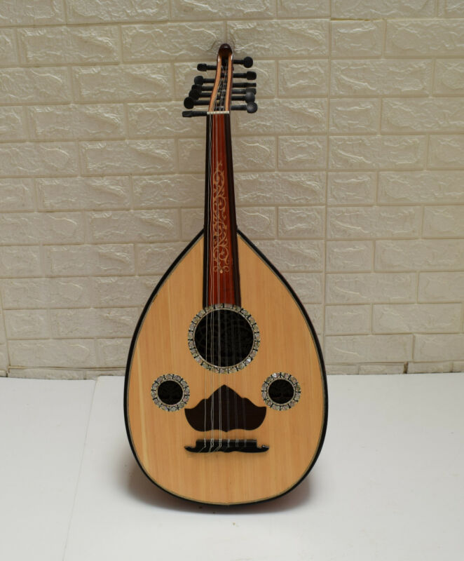 Egyptian Arabic Oud Musical Instrument, Ebony Wood keys, Mother of Pearl Inlay-3