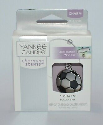 NEW YANKEE CANDLE CHARMING SCENTS SOCCER BALL CHARM METAL BANGLE CAR ACCESSORY for sale  Shipping to India
